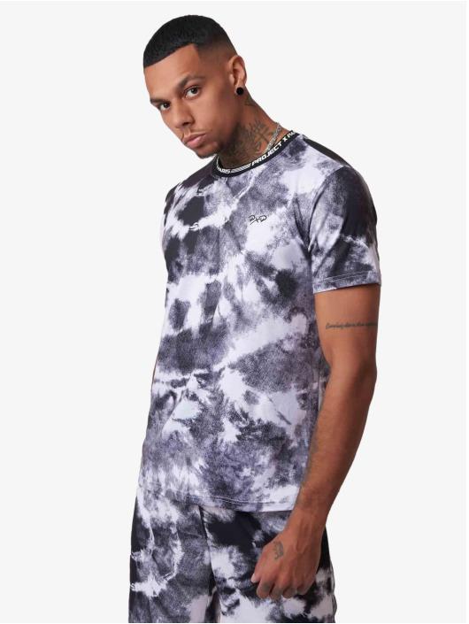 Project X Paris T-Shirty Tie & Dye czarny