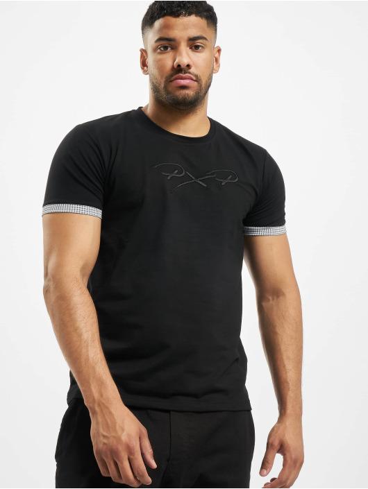 Project X Paris T-Shirty Sleeve Check Details czarny