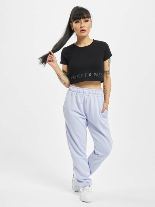 Project X Paris T-Shirty Box Style Cropped czarny