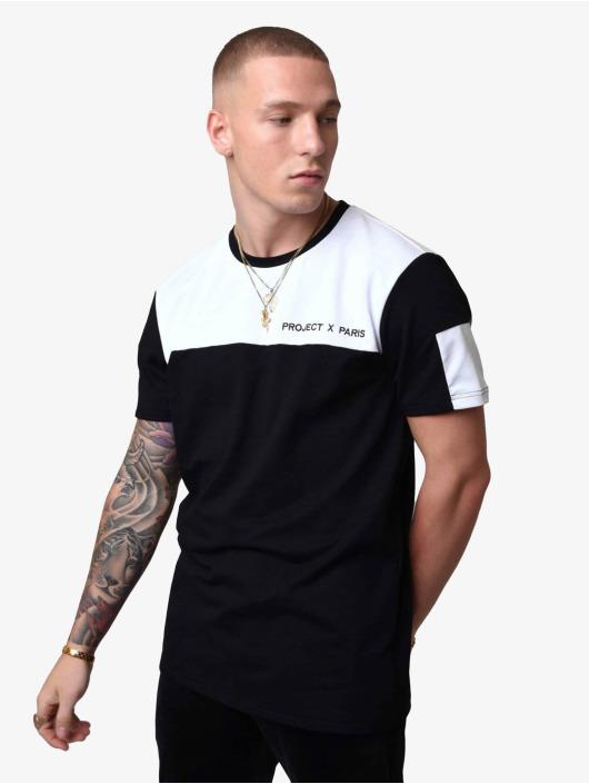 Project X Paris T-Shirty Color-Block czarny