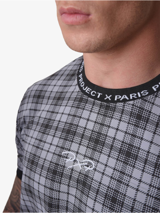 Project X Paris T-Shirty Black Check czarny
