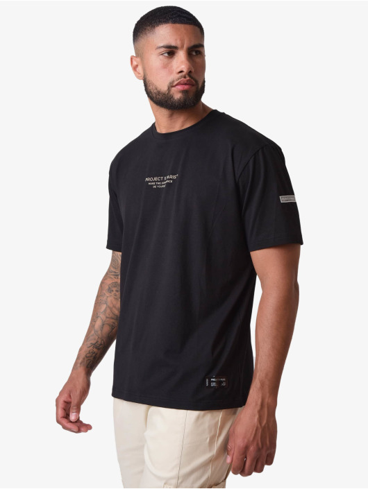Project X Paris T-Shirty Reflective Writing Design czarny