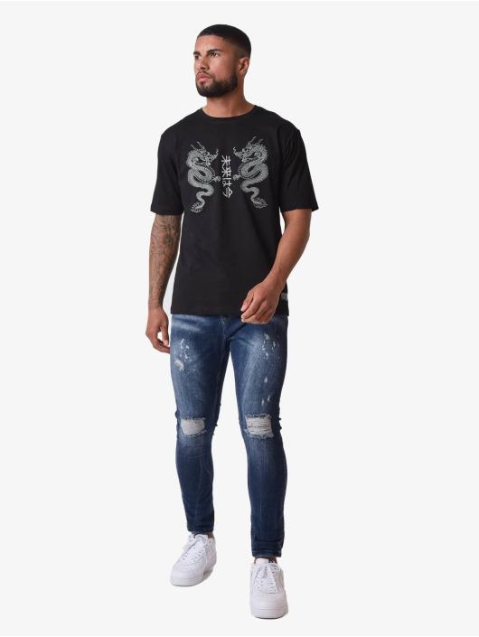 Project X Paris T-Shirty Dragons Design czarny