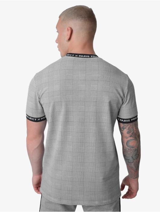 Project X Paris T-Shirty Checked Logo band czarny