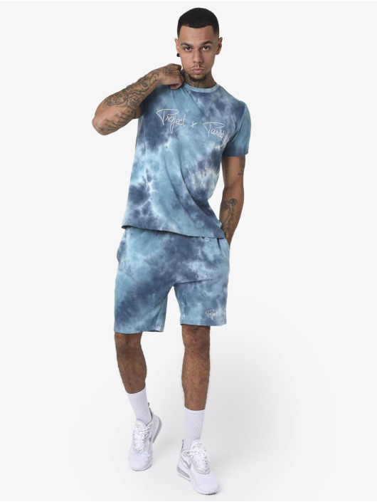 Project X Paris T-Shirty Embroidery Tie & Dye niebieski