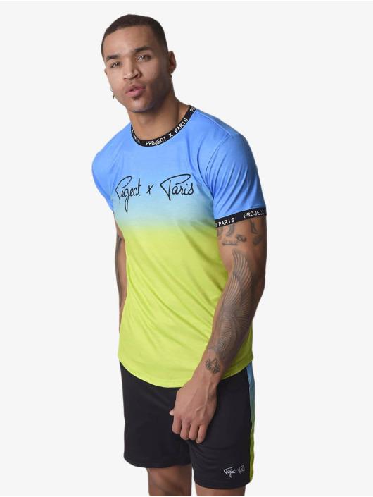 Project X Paris T-Shirty Gradient niebieski