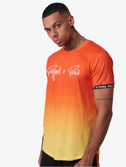 Project X Paris T-Shirty Gradient Summer pomaranczowy