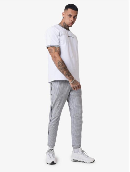 Project X Paris T-skjorter Checked Sleeves hvit