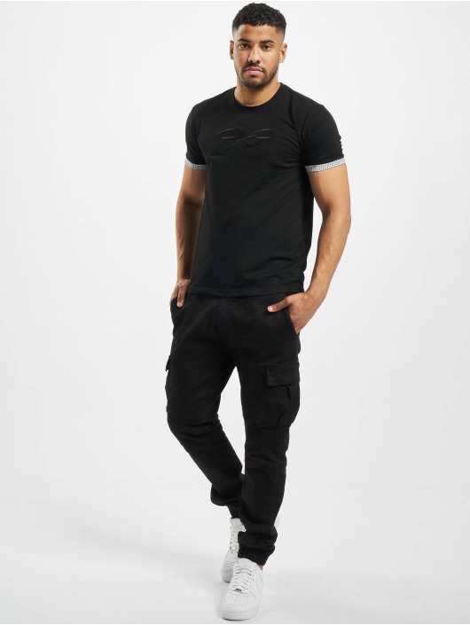 Project X Paris T-skjorter Sleeve Check Details svart