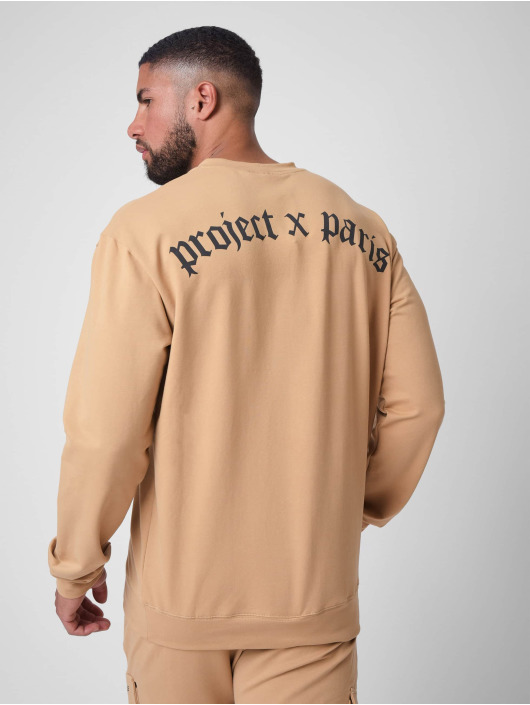Project X Paris Trøjer othic print Crew neck brun
