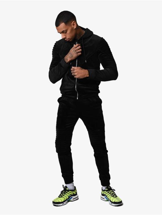Project X Paris Transitional Jackets Ribbed Hooded Velvet svart