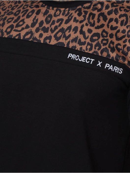 Project X Paris Tričká Leopard Print Panels èierna