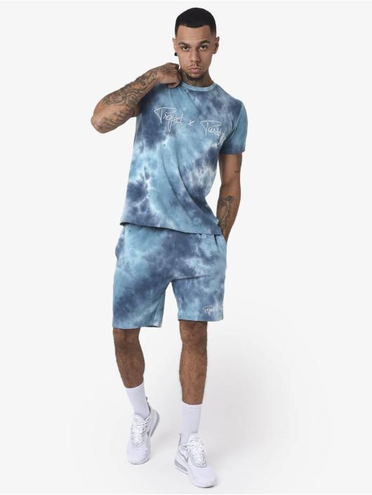 Project X Paris Tričká Embroidery Tie & Dye modrá