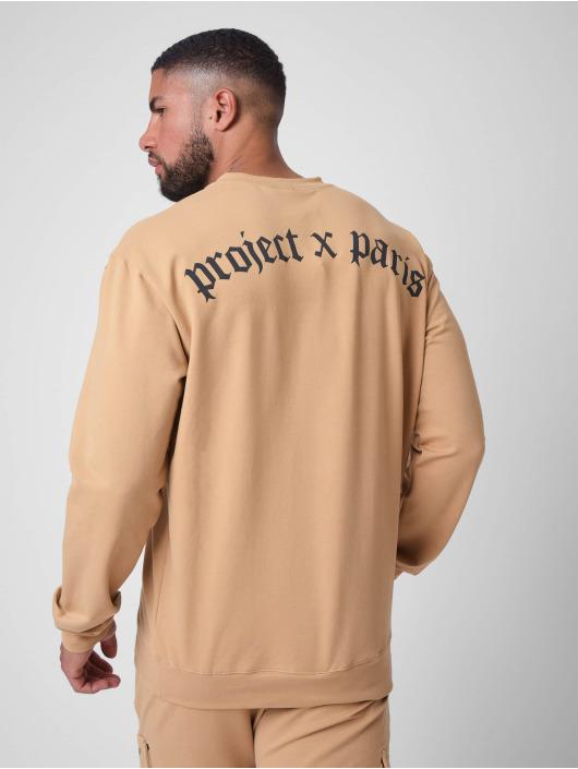 Project X Paris Tröja othic print Crew neck brun