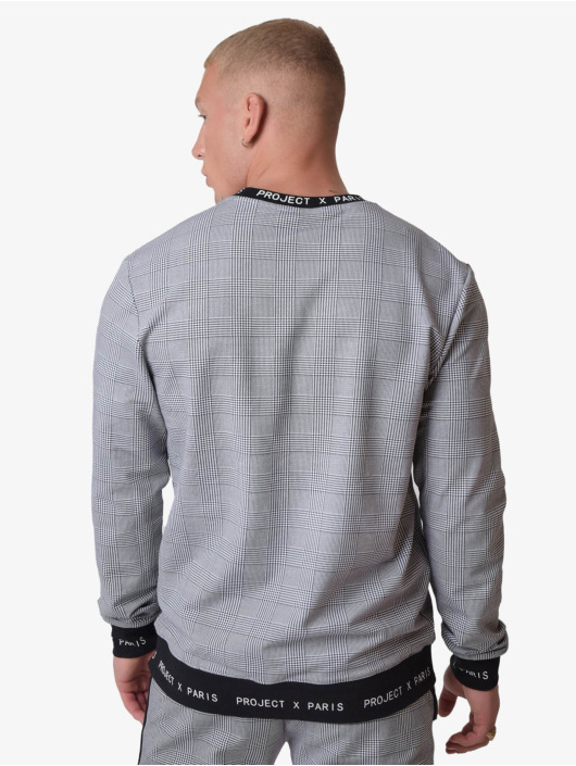 Project X Paris trui Check Pattern zwart