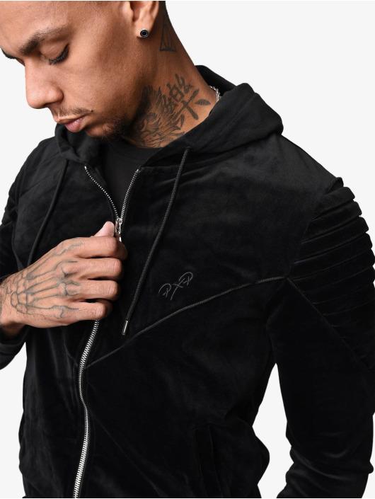Project X Paris Zomerjas Ribbed Hooded Velvet zwart