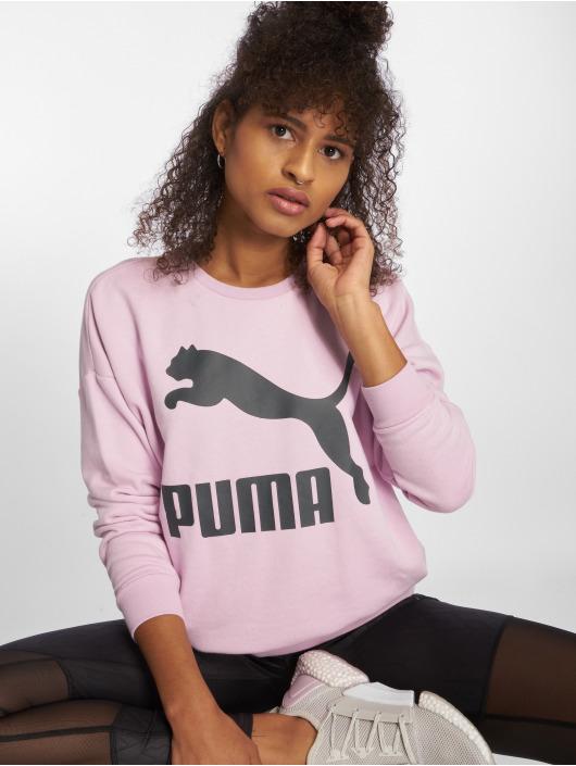 Puma Пуловер Classics Logo пурпурный
