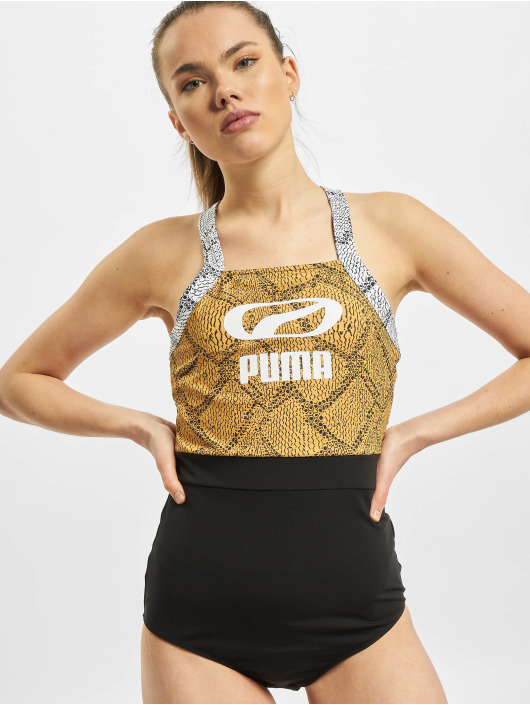 Puma Badeanzug Snake schwarz