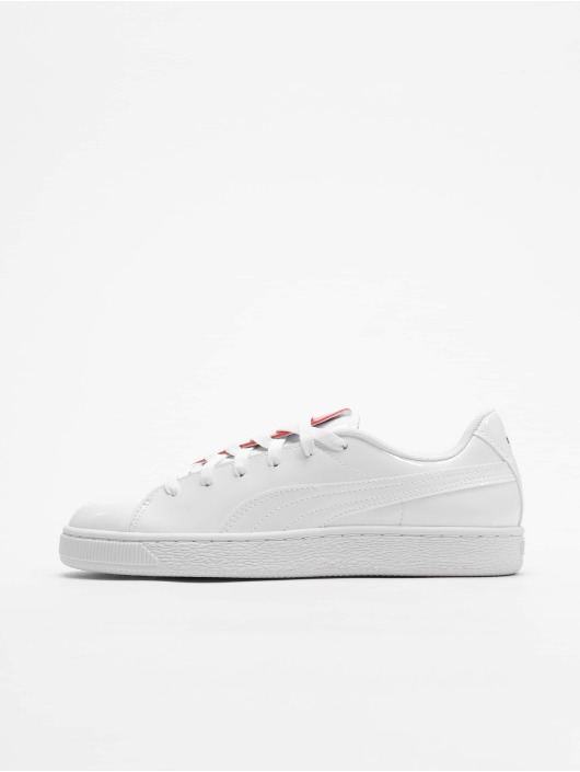 Crush Sneakers 607719 PumaBasket Femme Blanc Baskets O8nk0wPX
