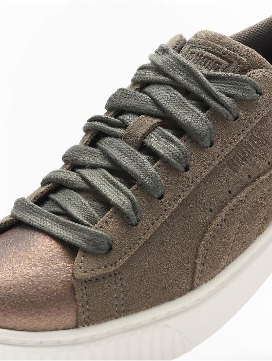 Puma Baskets Suede Platform gris