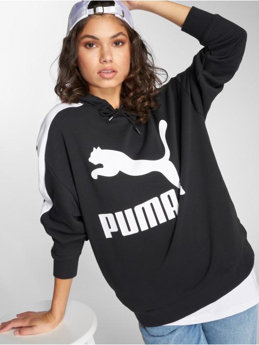 Puma Bluzy z kapturem Classics Logo T7 czarny