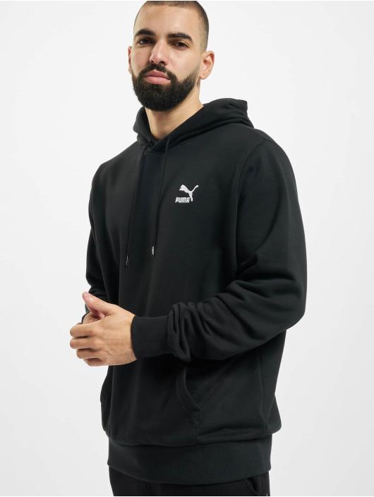 Puma Bluzy z kapturem Classics Logo Embroidery czarny
