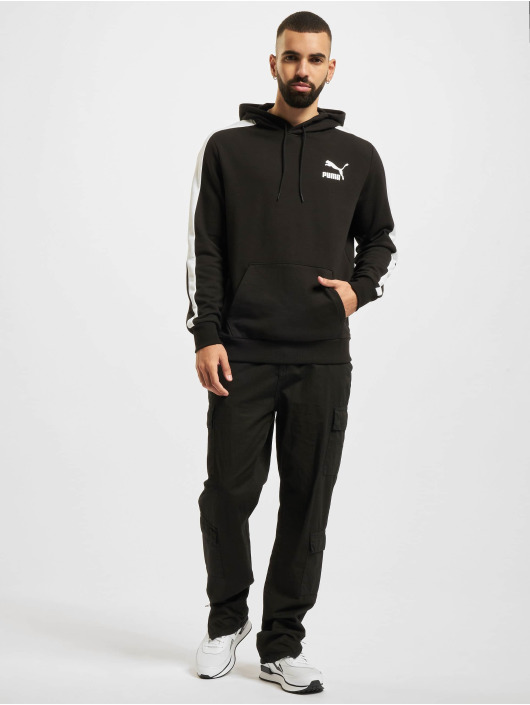 Puma Bluzy z kapturem Iconic T7 czarny