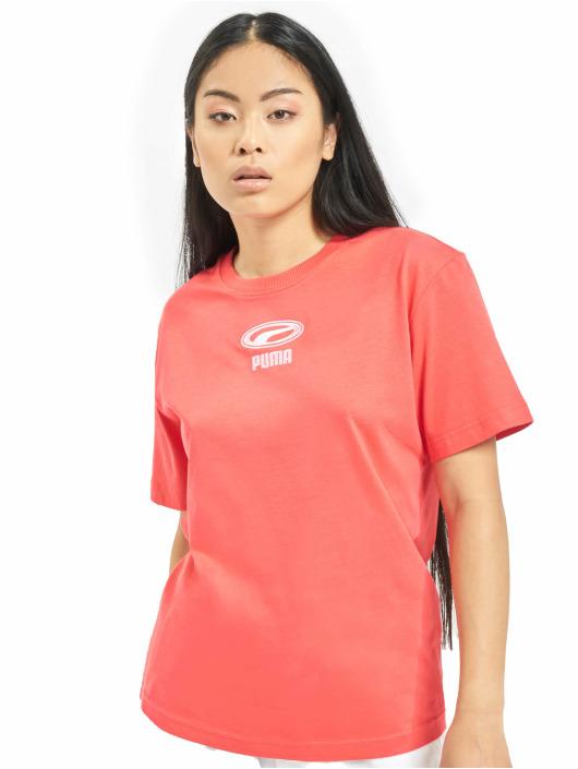 Puma Bluzy z kapturem OG czerwony