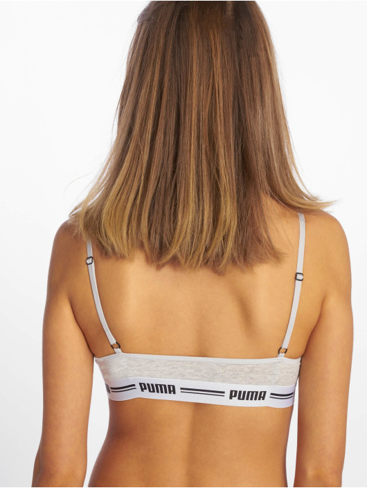Puma Dobotex Športová podprsenka Iconic Casual Bralette 1P šedá