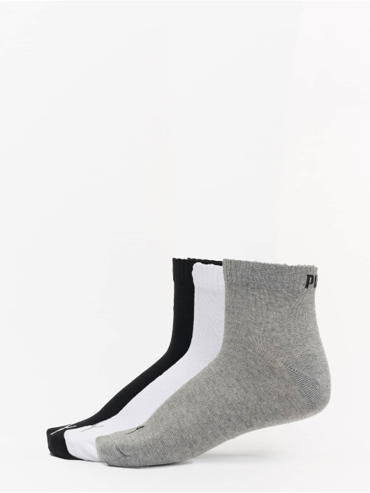Puma Dobotex Sokken 3 Pack Quarter Plain grijs