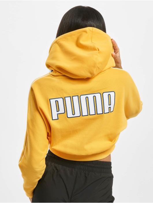 Puma Felpa con cappuccio Colour Block Cropped giallo
