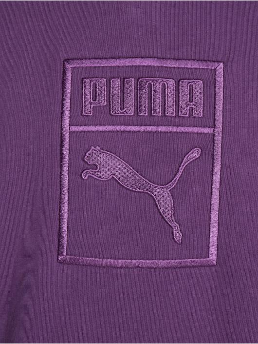 Puma Felpa con cappuccio Downtown Oversize viola