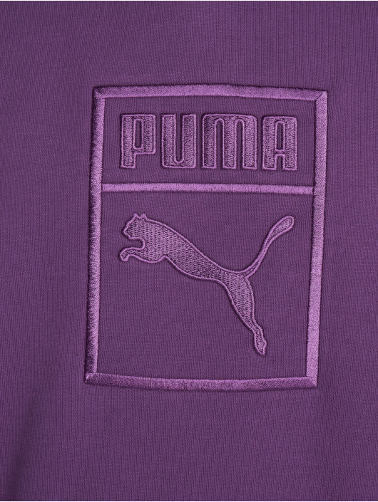 Puma Hoodies Downtown Oversize fialový