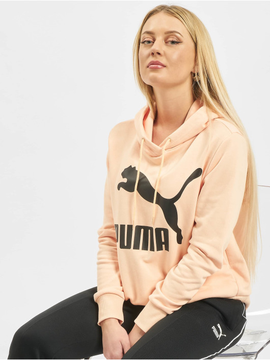 Puma Hoodies Logo oranžový
