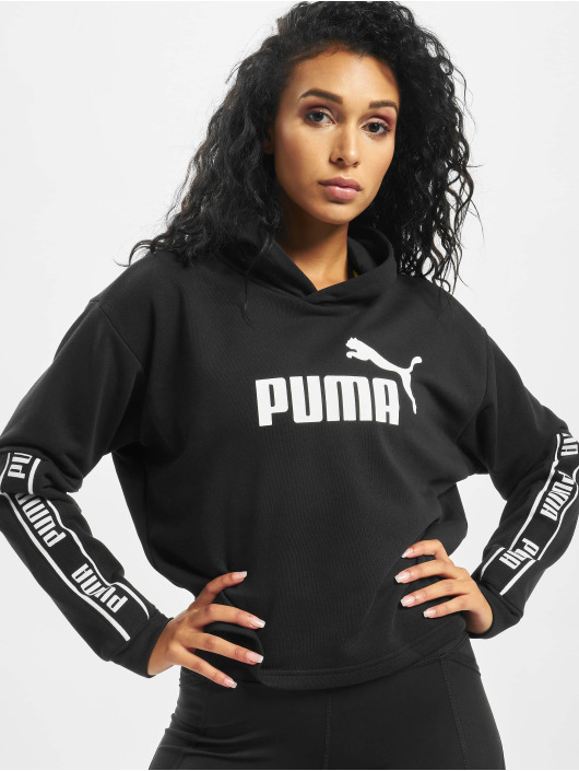 Puma Hoody Amplified Cropped schwarz