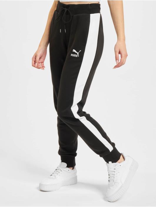 Puma Jogging kalhoty Iconic T7 čern