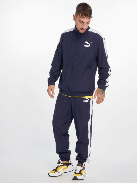 Puma Jogging kalhoty Iconic T7 modrý