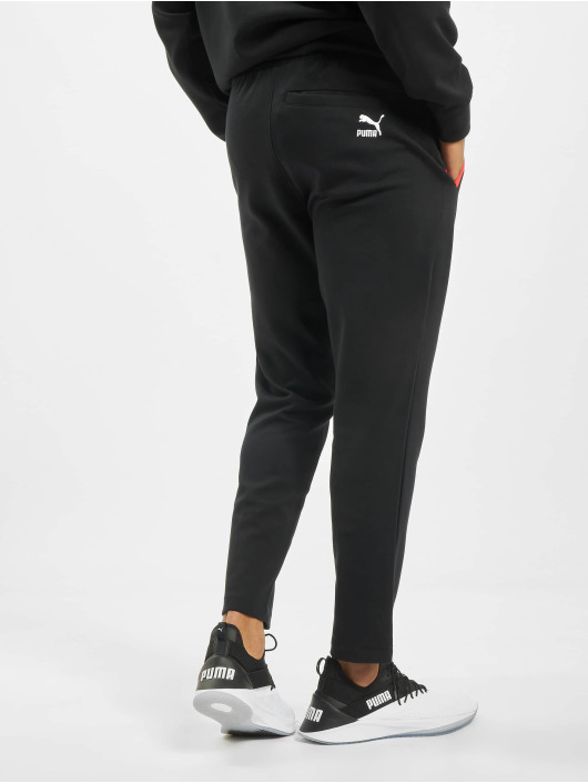 Puma Jogginghose Colour Block Knitted schwarz