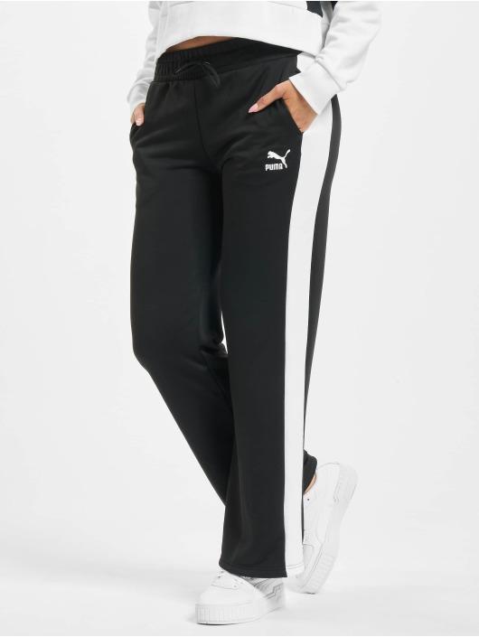 Puma Jogginghose Wide Leg schwarz