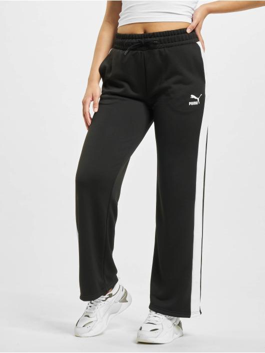 Puma Jogginghose Iconic T7 Wide Leg schwarz
