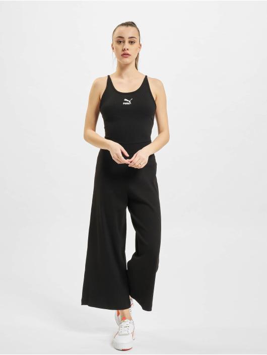 Puma jumpsuit Classics Rib zwart