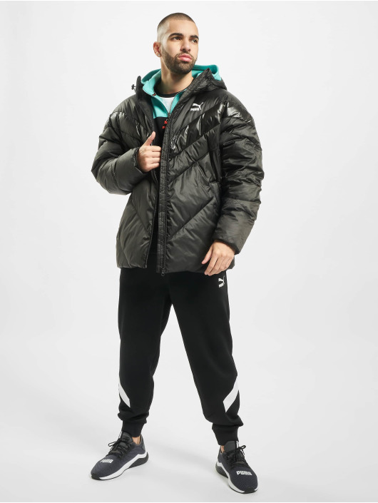 Puma Kurtki pikowane MCS Shiny czarny