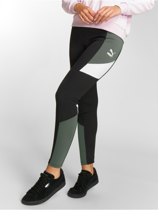 Puma Leggings/Treggings Retro Rib black
