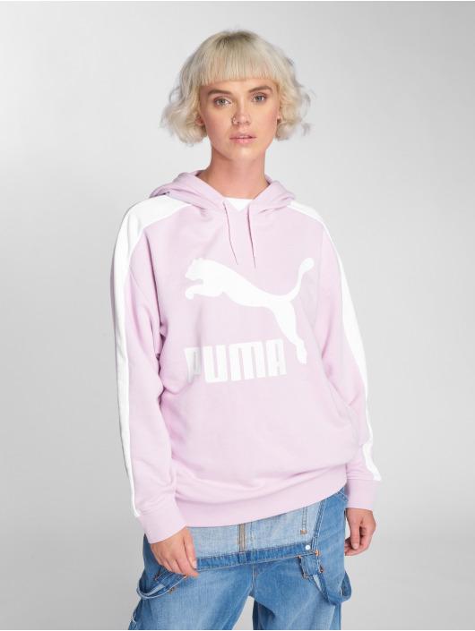 Puma Mikiny Logo T7 fialová