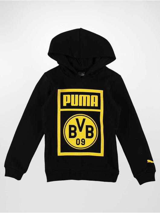 Puma Performance Bluzy z kapturem BVB Shoe Tag Jr czarny