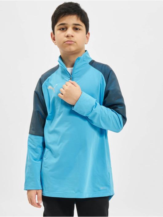Puma Performance Camiseta de manga larga 1/4 Zip Junior azul