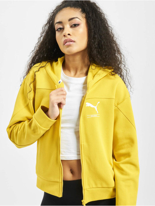 Puma Performance Hoodies con zip Nu-Tility FZ giallo