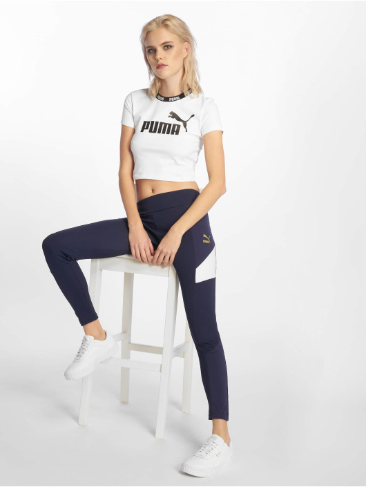 Puma Performance Shirts desportes Amplified Cropped Tee blanco