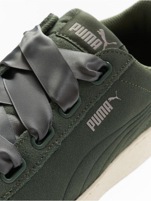 Puma Performance Sneakers Vikky Platform Ribbon zelená