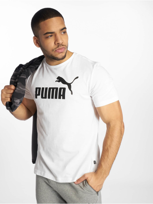 Puma Performance Sportshirts ESS Logo bialy